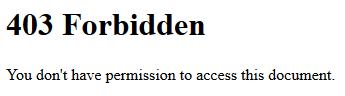 Kod błędu 403 - odmowa/zakaz dostępu do określonych zasobów na serwerze