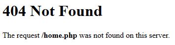 Przykładowy komunikat błędu 404 na serwerach w home.pl