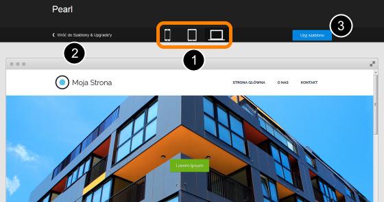 Click Web - Strona Główna - Szablony - Podgląd - Kliknij przycisk Użyj szablonu