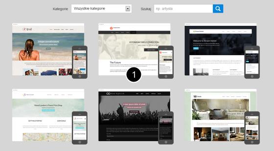 Click Web - Strona Główna - Szablony - Wybierz szablon, aby uruchomić jego podgląd