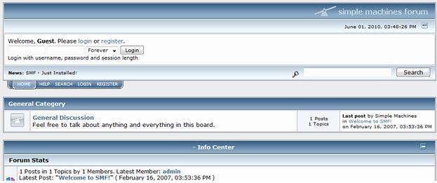 Autoinstalator - Lista - Forum dyskusyjne - Przykładowa instalacja forum pod Simple Machines Forum