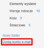Poczta home.pl - kliknij przycisk: Dodaj konto e-mail, który znajduje się po lewej stronie ekranu.