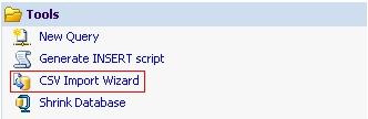 Import w bazie danych MSSQL