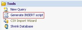 Eksport w bazie danych MSSQL