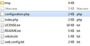 Serwer FTP - Joomla - Wejdź do pliku configuration.php