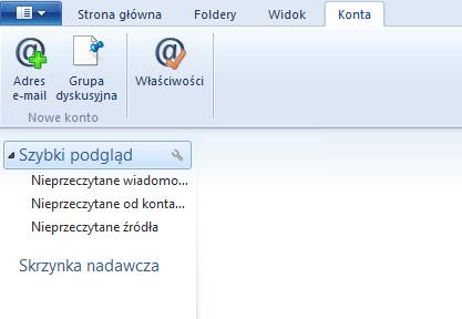 Konfiguracja programu pocztowego – Windows Live