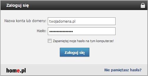 Konfiguracja domeny w home.pl