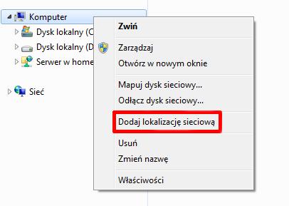 Mapowanie dysku sieciowego w systemie Windows