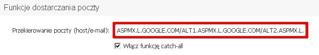 mxgoogle06 - Jak skonfigurować rekord MX dla serwerów pocztowych Gmail?