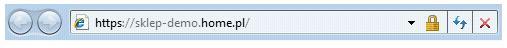 Internet Explorer 9 - Certyfikaty klasy EV (Extended Validation) - Przykładowy widok zielonego paska adresu w przeglądarce internetowej