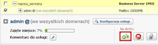 Panel klienta - Usługi - Nazwa serwera - W sekcji Na skróty wybierz przycisk Dodaj alias