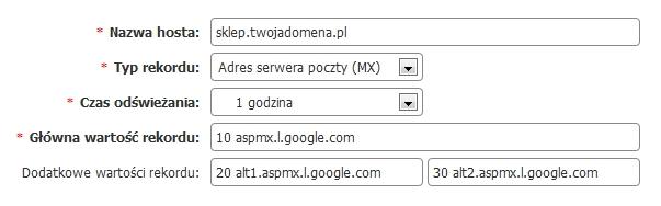 nowyrekordmx - Jak skonfigurować rekord MX dla serwerów pocztowych Gmail?