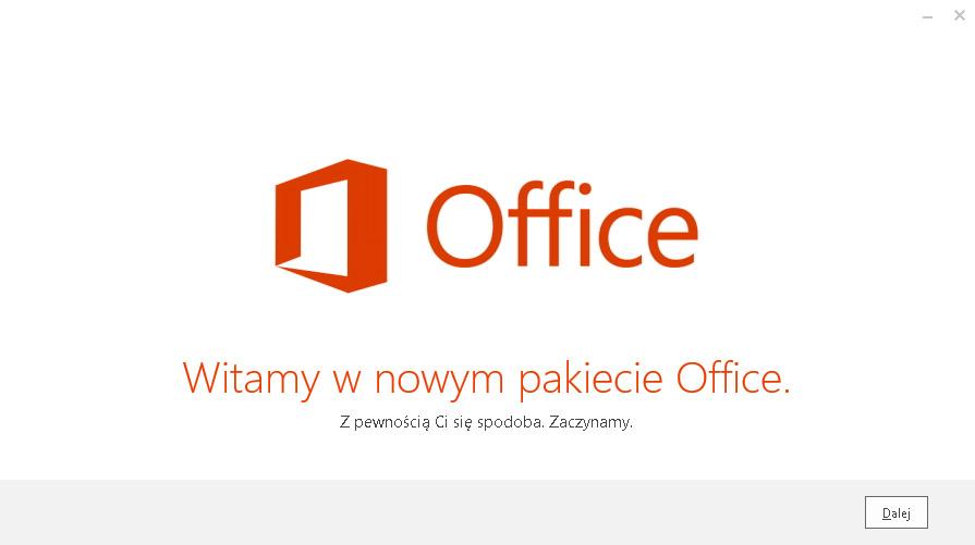 Instalacja pakietu Office odbywa się w tle - Witamy w nowym pakiecie Office - Zapoznaj się z przedstawionymi w prezentacji informacjami