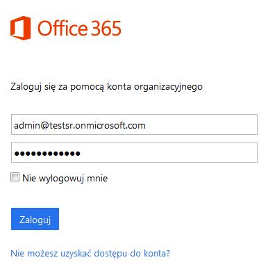 Office 365 - Zaloguj się do Panelu Administracyjnego