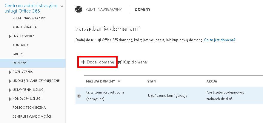 Panel Klienta - Domeny - Kliknij przycisk Dodaj domenę