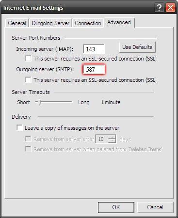ff44e716d61f6d Microsoft Outlook 2003 - Tools - E-mail Accounts - Internet E-mail Settings