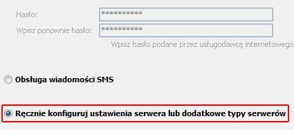 Microsoft Outlook 2010 - Plik - Informacje - Dodaj konto - Wybierz opcję Ręcznie konfiguruj ustawienia serwera lub dodatkowe typy serwerów