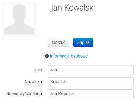 Poczta home.pl - Książka adresowa - Edytuj - Zmodyfikuj informacje na temat wybranego kontaktu