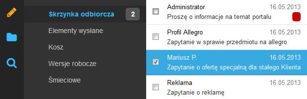 Poczta home.pl - Na liście wiadomości zaznacz tę wiadomość e-mail, na którą chcesz odpowiedzieć