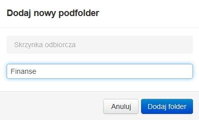 Poczta home.pl - Poczta - Moje foldery - Dodaj nowy folder - Wpisz nazwę folderu