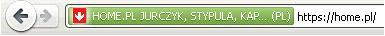Przykład oszustwa - Przeglądarka internetowa - Pasek adresu