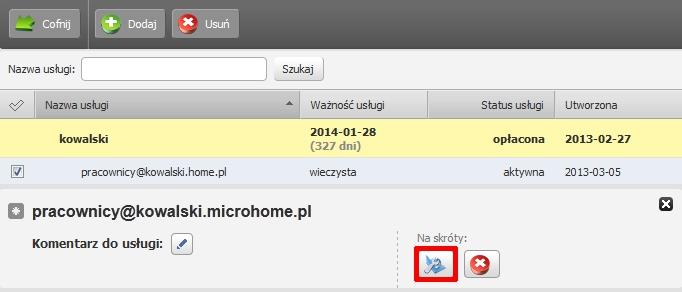 Panel klienta - Usługi - Nazwa serwera - Konfiguracja usługi - Narzędzia - Listy mailingowe - Nazwa listy mailingowej - Kliknij przycisk Konfiguruj