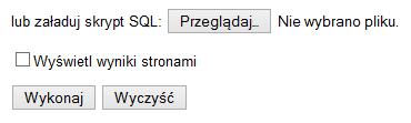phpPgAdmin - Bazy danych - SQL - Wybierz odpowiedni plik ze zrzutem bazy danych PgSQL