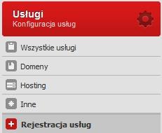 Usługi – Rejestracja usług