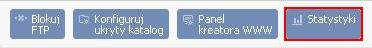 Panel Klienta - Usługi - Nazwa usługi - Konfiguracja usługi - W pasku Akcji kliknij przycisk Statystyki