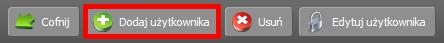 Panel Klienta - Usługi - Nazwa serwera - Konfiguracja usługi - Narzędzia - Repozytoria SVN - Zaznaczone repozytorium - Użytkownicy - Kliknij przycisk Dodaj użytkownika