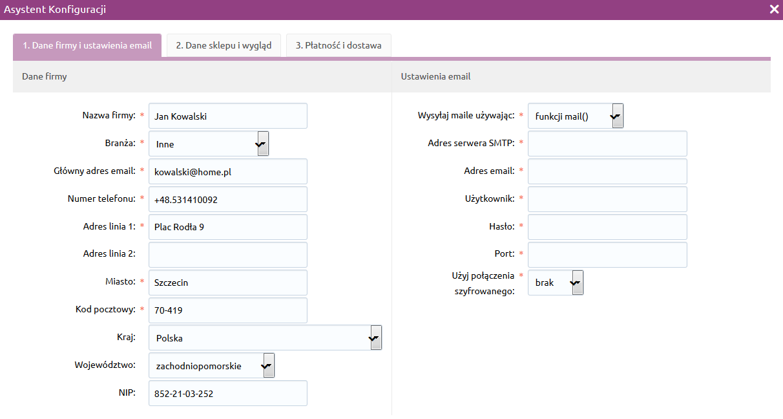 Jak skorzystać z asystenta wstępnej konfiguracji?