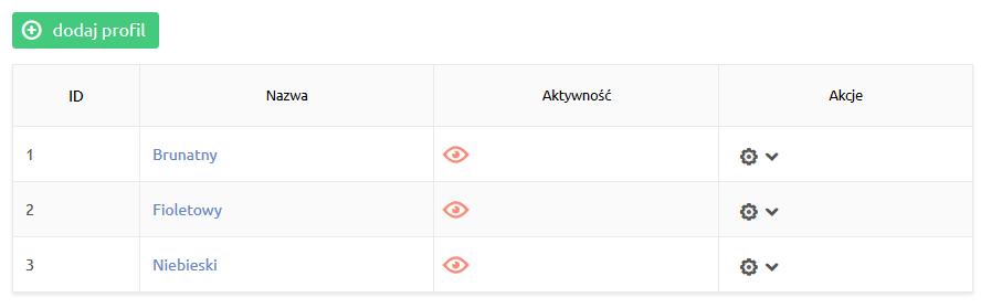 Sklep internetowy - Konfiguracja - Integracje - Systemy aukcyjne - Profile aukcji - Kliknij przycisk Dodaj profil