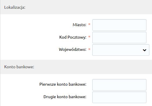Sklep internetowy - Integracje - Systemy aukcyjne - Konfiguracja - Połącz z Allegro - Uzupełnij lokalizacje i konta bankowe