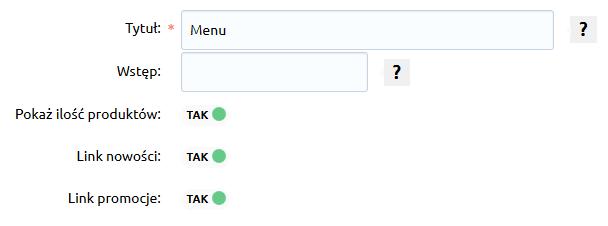 Sklep internetowy - Konfiguracja - Wygląd - Aktywny styl graficzny - Moduły - Menu - Włącz opcję Pokaż ilość produktów