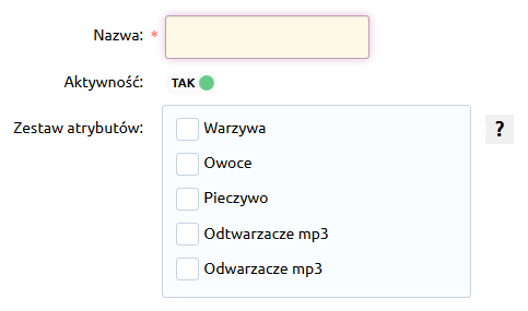 Sklep internetowy - Asortyment - Kategorie - Dodaj kategorię główna - Wypełnij wyświetlony formularz