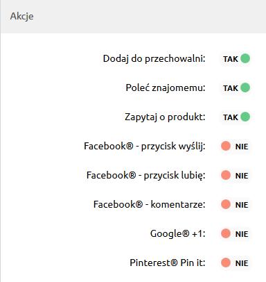 Sklep internetowy - Konfiguracja - Wygląd - Aktywny styl graficzny - Szczegóły produktów - W sekcji Akcje zaznacz opcję Pinterest – Pin it