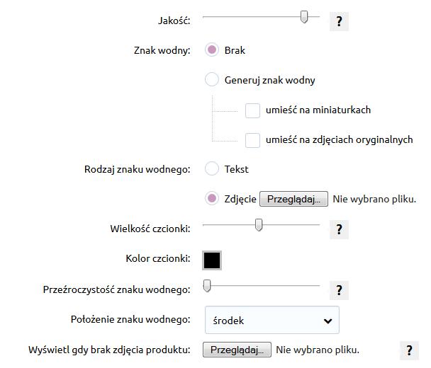 Sklep internetowy - Konfiguracja - Asortyment - Produkty - Znajdź sekcję Zdjęcia produktów