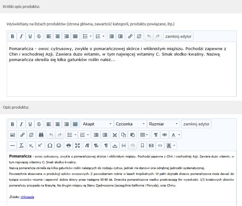 Sklep internetowy - Asortyment - Produkty - Krótki Opis produktu i Opis produktu - Uzupełnij dane