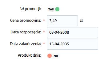 Sklep internetowy - Asortyment - Produkty - Promocje - Uzupełnij dane