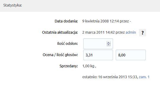 Sklep internetowy - Asortyment - Produkty - Statystyka - Uzupełnij dane