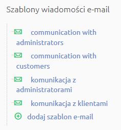 Sklep internetowy - Zawartość - Wiadomości e-mail - Zaprojektuj wygląd wiadomości e-mail wysyłanych do klienta