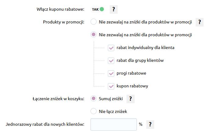 Sklep internetowy - Konfiguracja - Marketing - Rabaty - Przyznaj rabaty na zakupy dla nowo zarejestrowanych klientów
