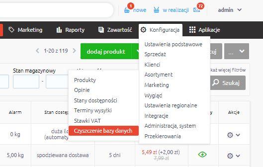 c7033e00737aa0 Kliknięcie przycisku Wyczyść spowoduje skasowanie z bazy danych wszystkich  przykładowych elementów, które są obecnie opublikowane w Twoim sklepie ...