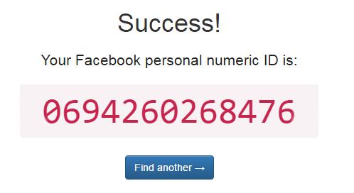Odpowiedź na wyszukiwanie - Zwrócony adres ID profilu na Facebooku