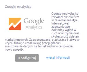 Integracja z Google Analytics w sklepie