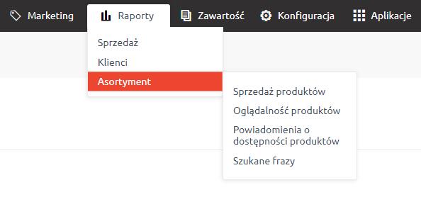 Raporty sprzedaży w eSklep