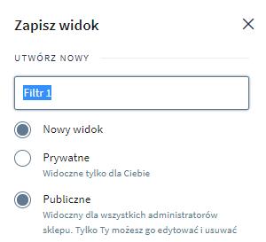 Jak utworzyć własne profile filtrów w magazynie?