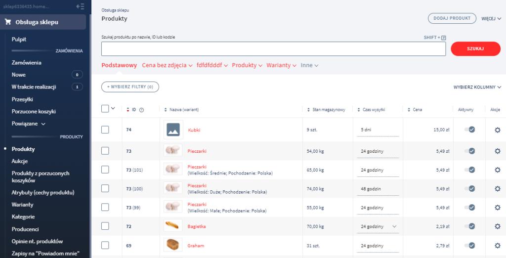 Import danych z pliku CSV do sklepu