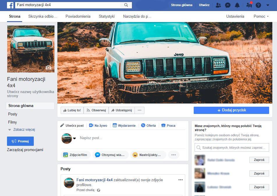 Nowy Fanpage na FB