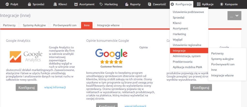 Analityka Google w eSklep